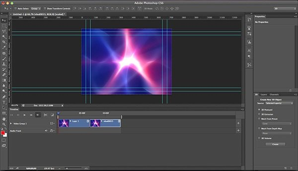 Create a 3d Animation in Photoshop Cs6