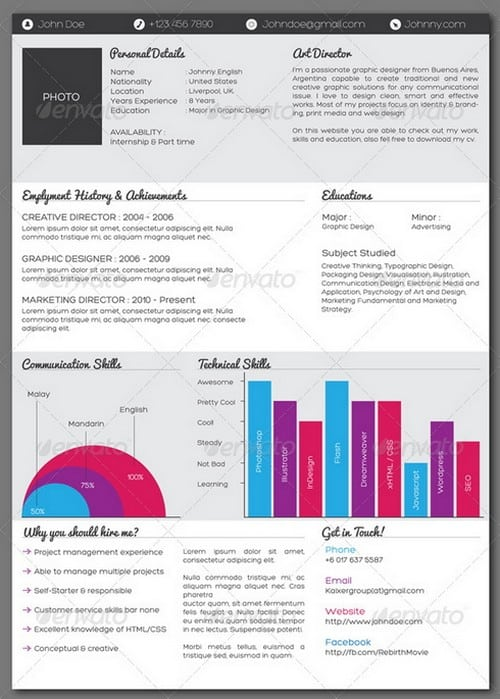 modern and professional resume template examples 2