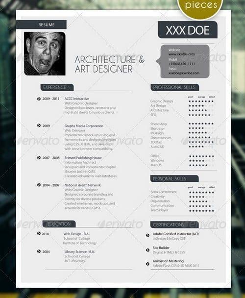 modern and professional resume template examples 24