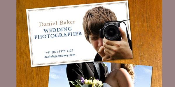 Wedding Photo Business Card