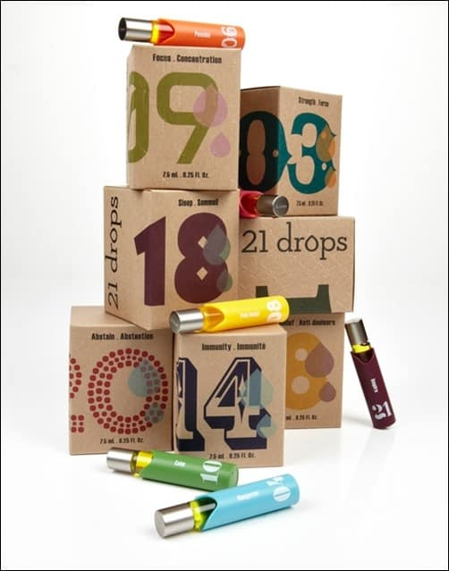 21-Drops-package-design