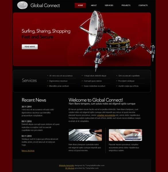 Communications HTML5 Website Template