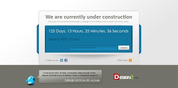 Premium Under Construction Templates PSD