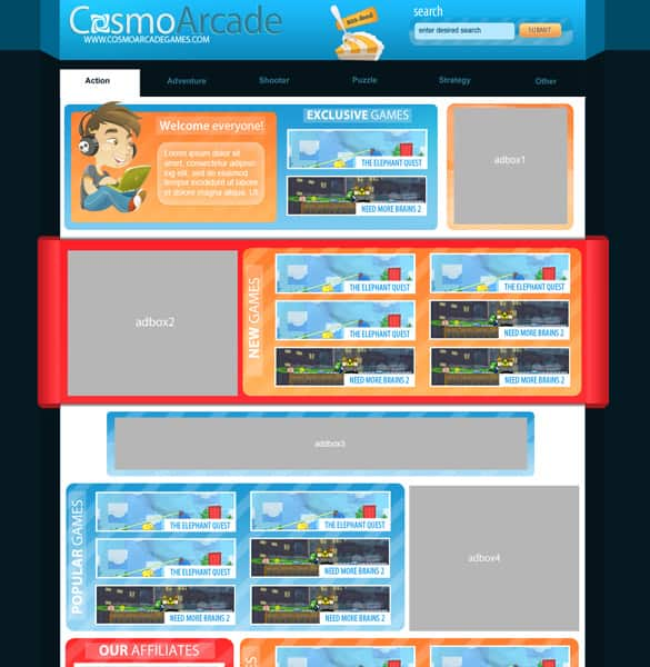 Simple Arcade Game Layout Design