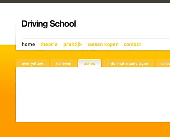 Yellow Silver Minimal Website Design