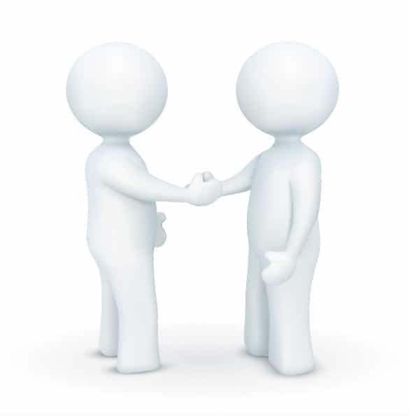 3D Handshake Vector Characters