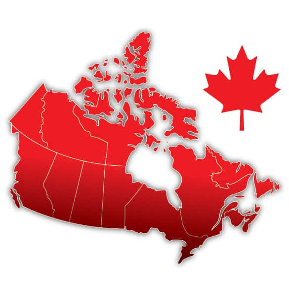 Canada Day Leaf Vector Map