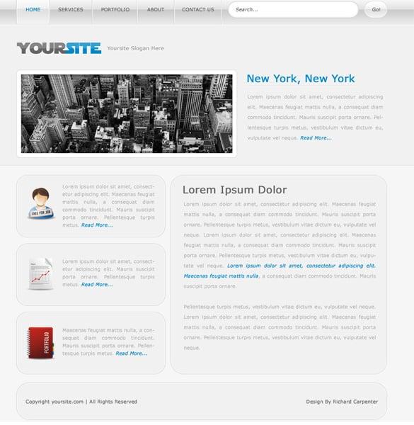 Simple Clean Web Design Layout