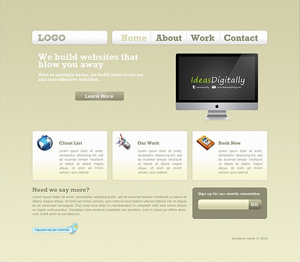 Clean Web Portfolio 2.0 Template
