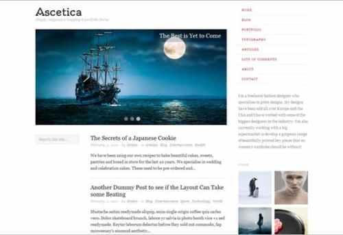 Ascetica portfolio theme