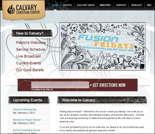 Calvary-Christian-Center-church-web-design
