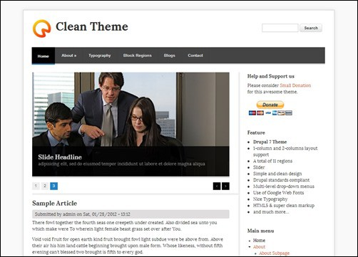 Clean-Theme-drupal-7-themes-free