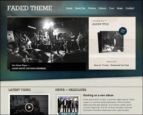 Faded-wordpress-band-themes