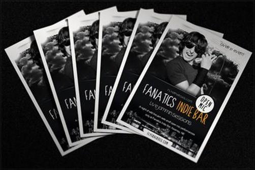 Fanatics-Indie-Bar flyer templates