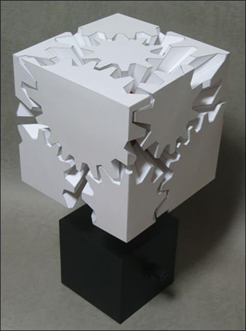 Gear's-Cube-paper-art