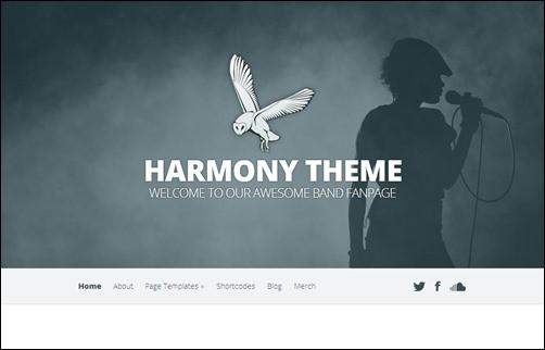 Harmony wordpress music theme