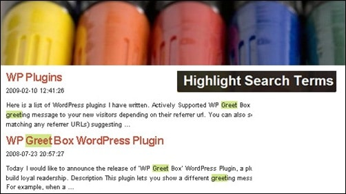Highlight Search Terms