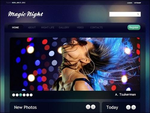 Magic-Night-drupal-7-themes
