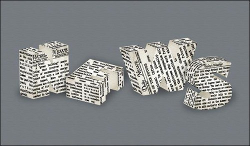Newspaper-Text-Effect