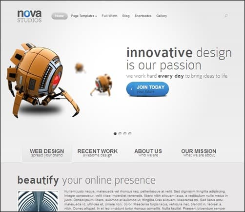 Nova-simple-wordpress-themes