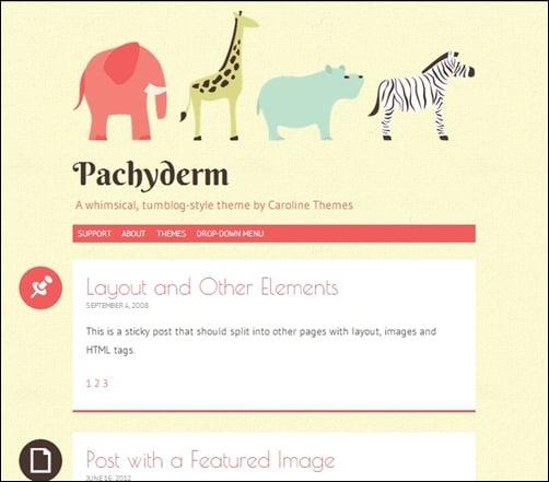 Pachyderm responsive WordPress theme