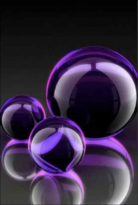 Purple-Orbs iphone wallpapers
