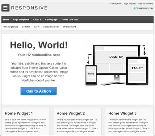 Responsive responsive WordPress theme