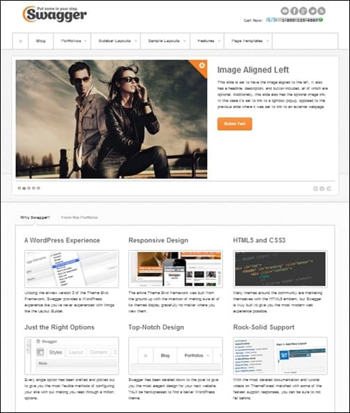 Swagger wordpress business themes