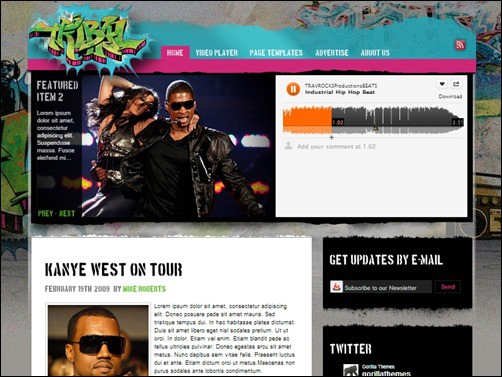 Tribal-wordpress-music-theme