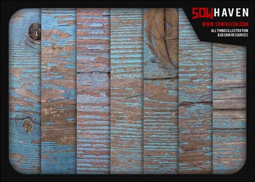 Weathered-Blue-Wood-Textures