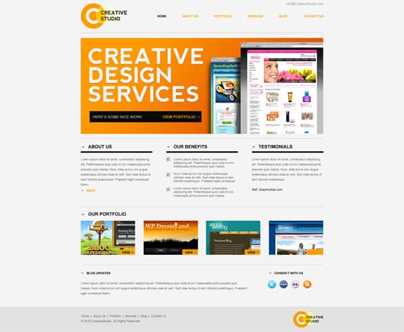 Creative Homepage Minimal Website