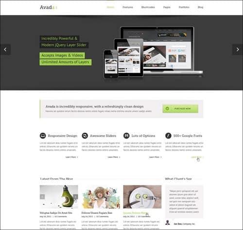 avada wordpress business themes