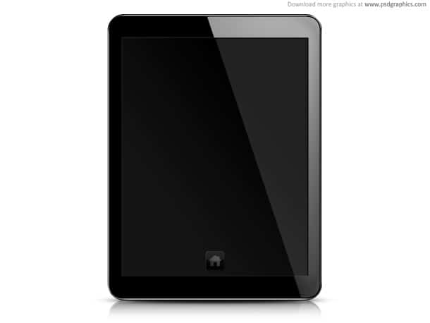 black tablet pc