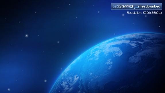 Blue Earth Wallpaper