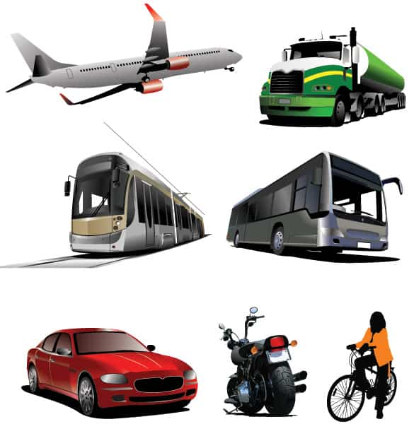 7 Transport Vehicle Vector Graphics
