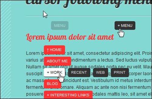 cursor-following-menu