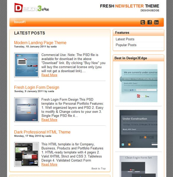 Simple Newsletter Theme Template