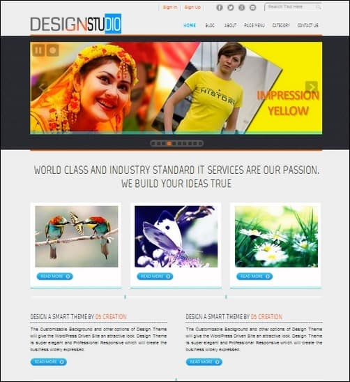 d5-design WordPress Photography Themes