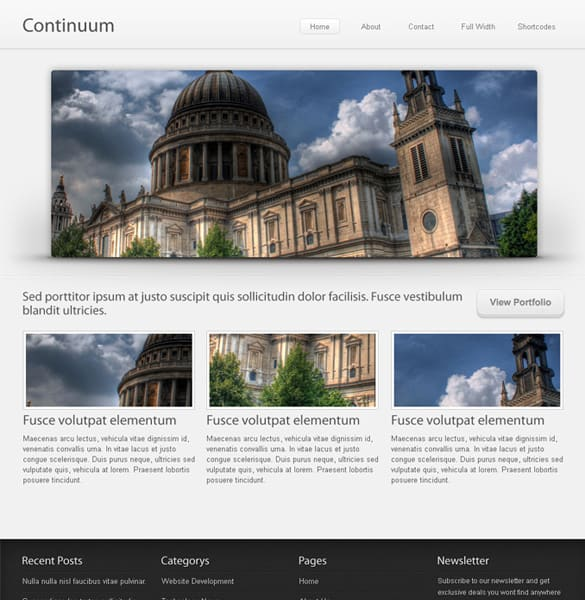 Neutral Portfolio Website Template