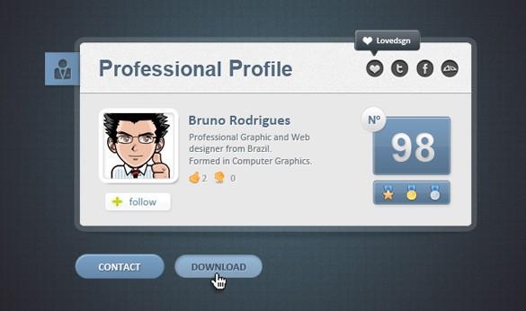 Professional Web Card Profile