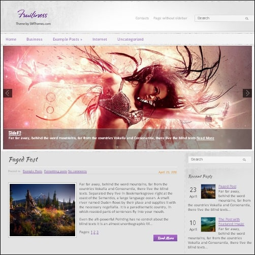 fruitiness wordpress music theme
