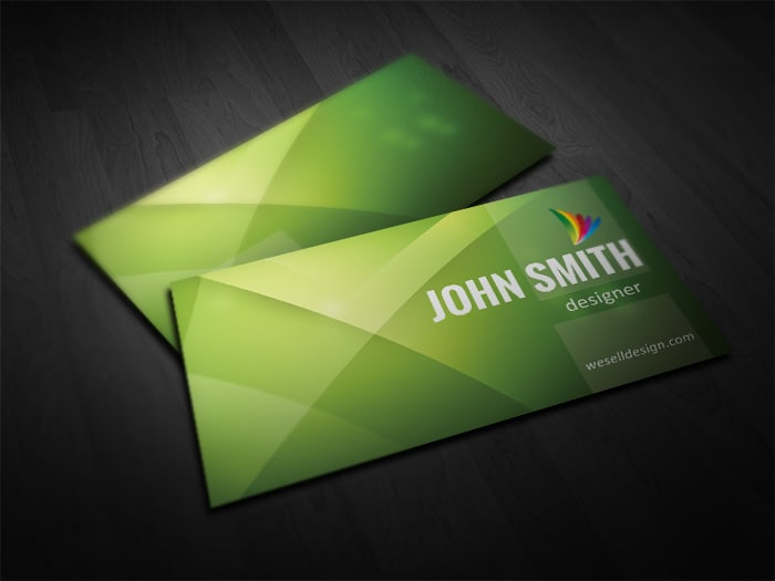 Free Green Business Card Template
