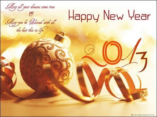 happy new year wallpaper 2013