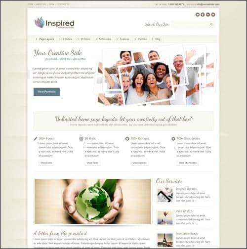 inspired wordpress business themes