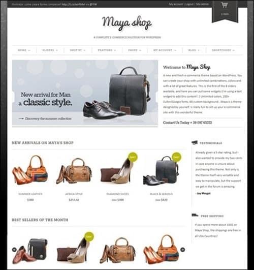 maya-shop WordPress ecommerce themes