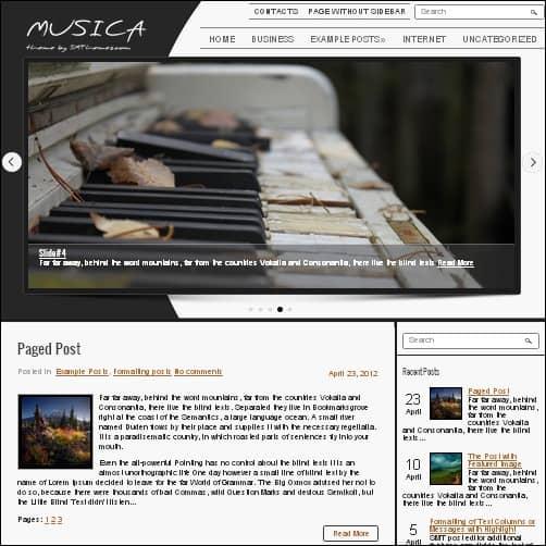 musica wordpress music theme