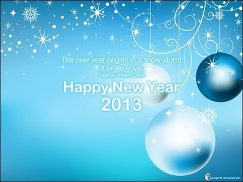 new year wallpaper 2013