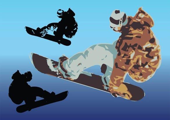 Cool Snowboard Vector Art Illustrations