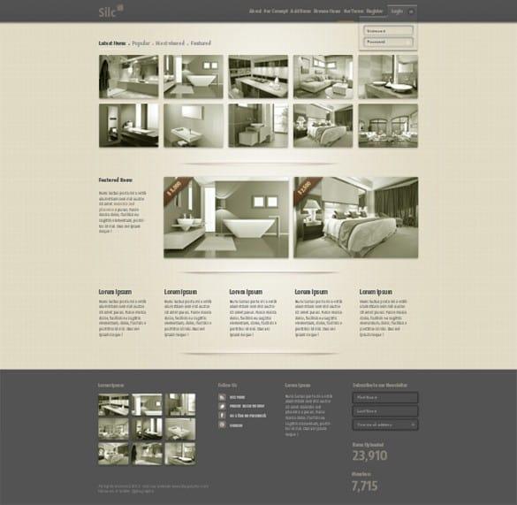 Silc Sepia Product Website Template PSD