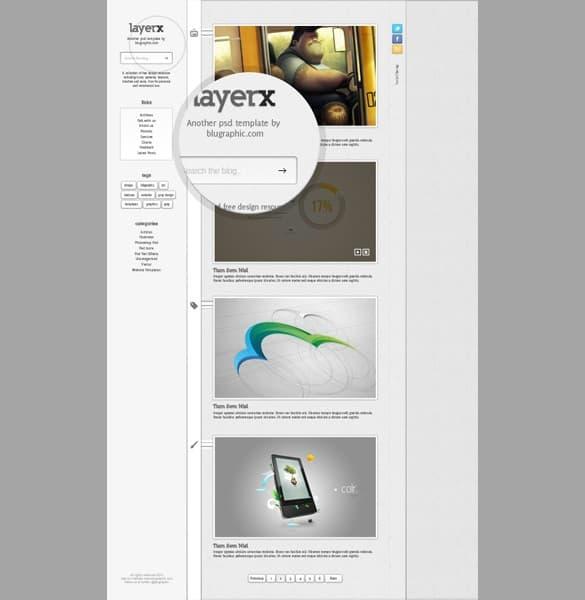 Layerx Blogger Theme Website Template